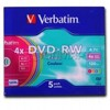 DVD+RW диск 4,7Gb Verbatim 4x Slim
